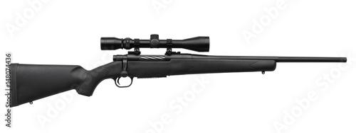 Fotografía  sniper rifle isolated on white