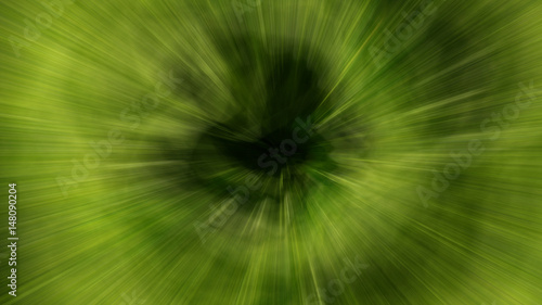Fototapety, obrazy: Abstract pattern with green and yellow rays on a black background