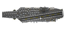 Aircraft Carrier Top View Isol...