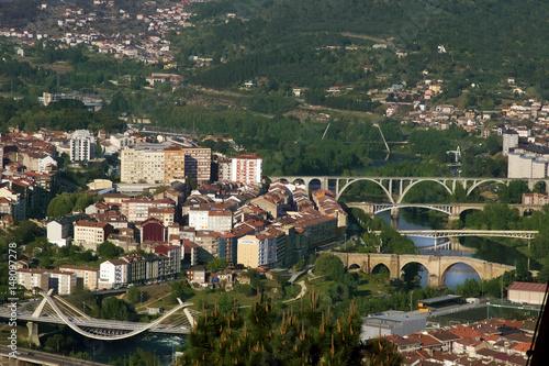 panoramic view of the city of orense, galicia, Spain