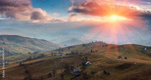 panoramic-landscape-of-the-spring-mountains-at-sunset-view-of-a-hilly-countryside