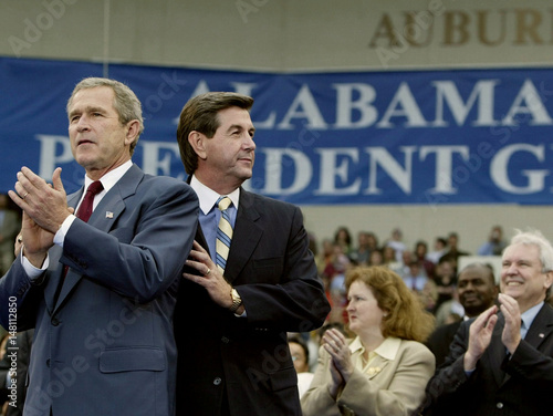US PRESIDENT GEORGE W BUSH AND CANDIDATE BOB RILEY IN