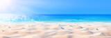 Tło Plaża - Piękny Piasek, Morze I Światło Słoneczne