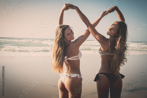 Obraz na plátně  We love beach