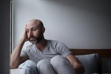 Mid Forties Depressed Man In B...