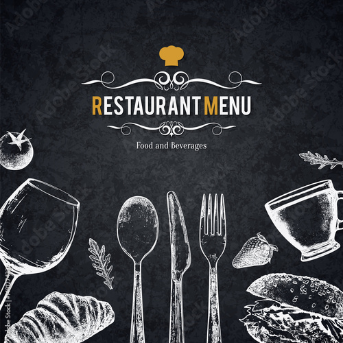 Restaurant menu design Fototapet