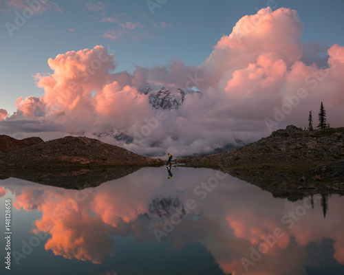 Canvas Prints Heaven Reflection of clouds in lake