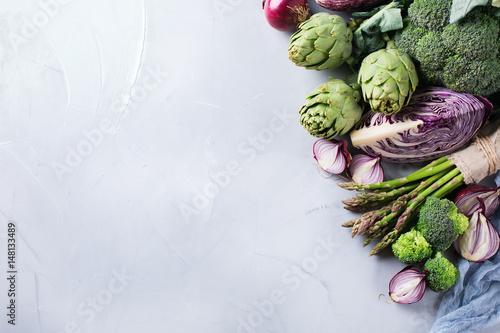 Canvas Prints Assortment Assortment of fresh organic farmer vegetables