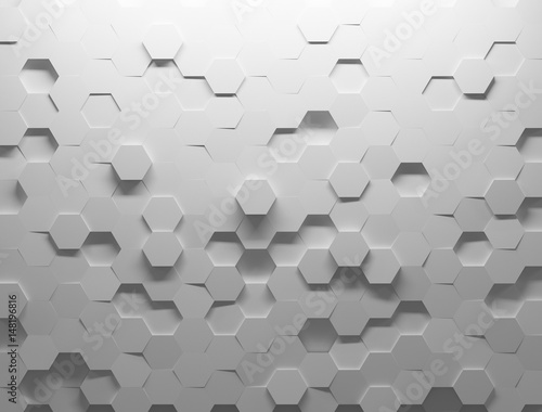 Fotografía  White shaded abstract geometric texture