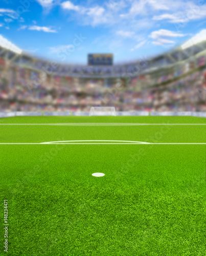 Zdjęcie XXL Piłka nożna Arena z fanami i miejsca na kopię