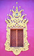 Leinwanddruck Bild - traditional thai style temple window