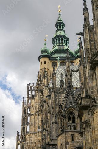 Fotografie, Obraz  Detail of St Vitus Cathedral, Prague