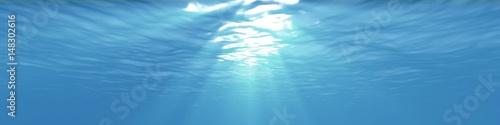 Staande foto Zee / Oceaan Panoramic Underwater