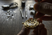 Watchmaker Is Working In Their...