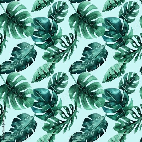 akwarela-wzor-tropikalnych-lisci-gesta-dzungla-ha