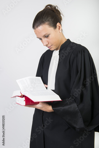 Fotografie, Obraz  portrait d'avocat en robe