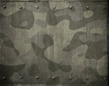 Military Metal Armor With Camouflage 3d Illustration