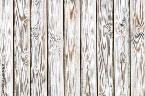 Papiers peints Bois Wooden brown desks with white paint pattern texture.
