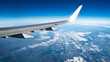 canvas print picture - Über Deutschland - Blick aus dem Flugzeugfenster