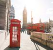 London Telephone Booth Stock Photo