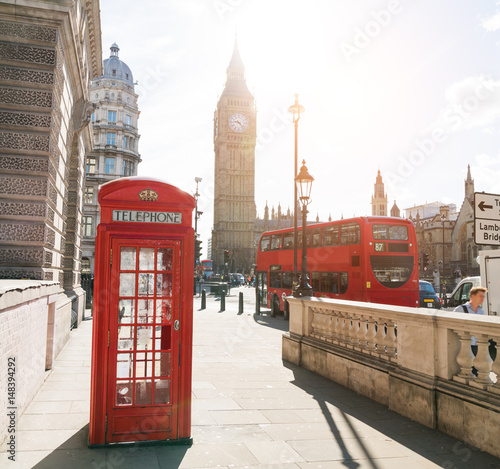 Photo  London Telephone Booth Stock Photo