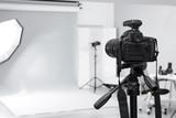 Fototapeta Kuchnia - Modern photo studio with professional equipment