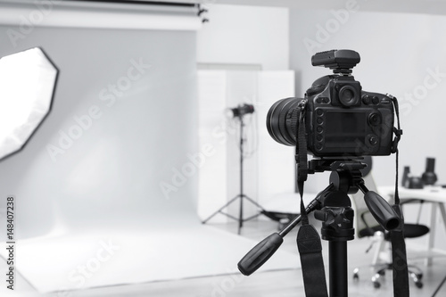 Fototapeta Modern photo studio with professional equipment obraz