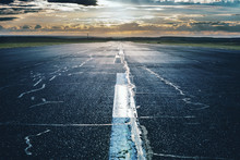 Airport Runway With Marking
