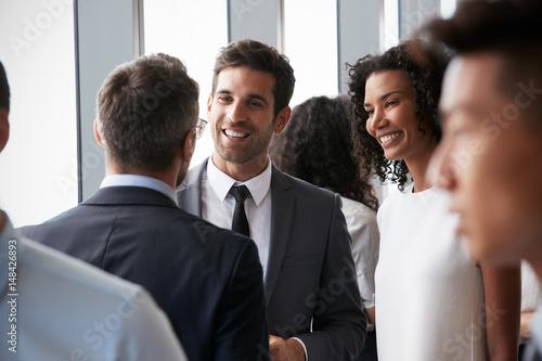 Fotografie, Obraz  Group Of Businesspeople Having Informal Office Meeting