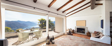 Furnish Living Room With Beautiful Timber Beams
