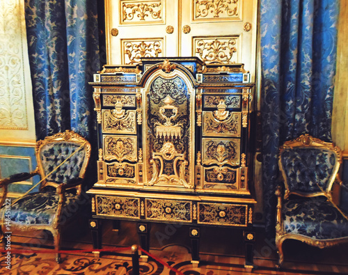 Foto op Aluminium Imagination Interior of The State Hermitage Museum or the Winter Palace, a former residence of Russian emperors in Saint Petersburg, Russia - July 2016