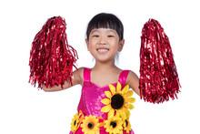 Asian Chinese Cheerleader Girl...