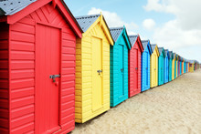 Beach Huts Or Bathing Boxes On...