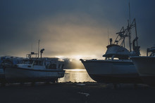 Fishing Boats At Sunrise, Hain...