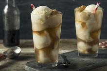 Homemade Soda Black Cow Ice Cream Float