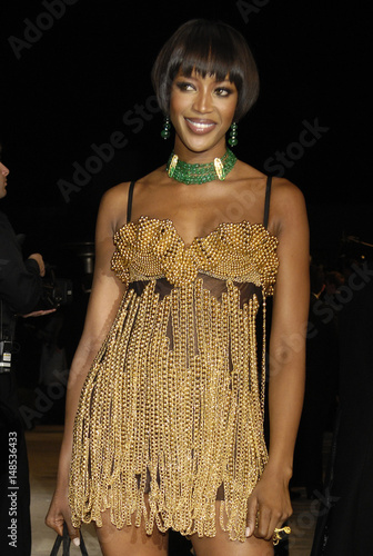 Naomi Campbell arrives for the Vanity Fair Oscar Party in