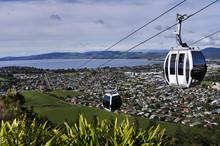 Riding Cable Car Above Rotorua...