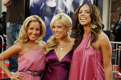 The Cheetah Girls singing group pose at the premiere of the