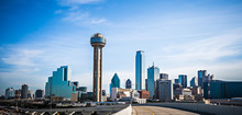 Dallas Texas City Skyline And ...