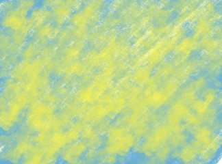 Fototapetasoft-color vintage pastel abstract watercolor grunge background with colored (shades of blue and yellow color), illustration