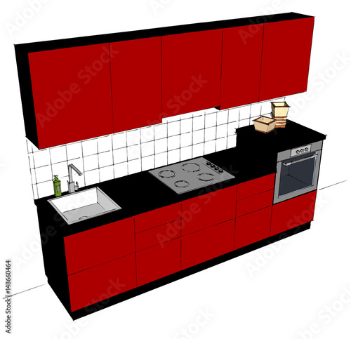 Awe Inspiring Ultra Modern Red And Black Kitchen Cabinetry Abstract Download Free Architecture Designs Jebrpmadebymaigaardcom