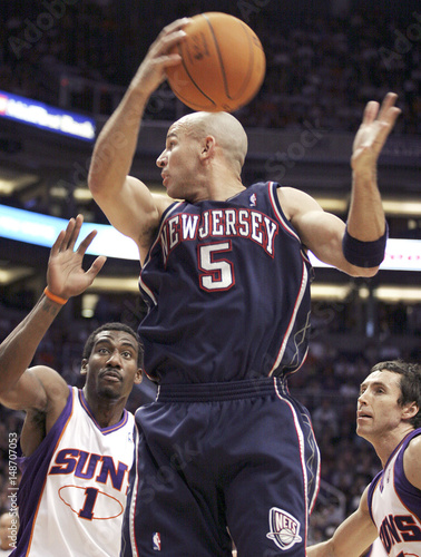 brand new 1232c 1bd11 New Jersey Nets Jason Kidd grabs rebound against Phoenix ...