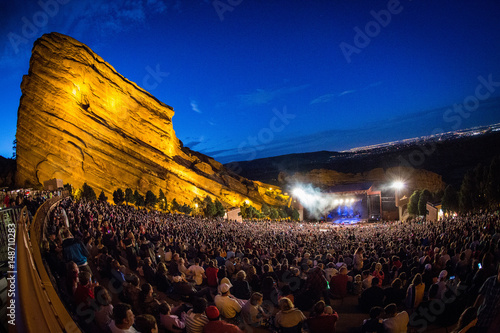 Red Rocks Amphitheatre Canvas Print