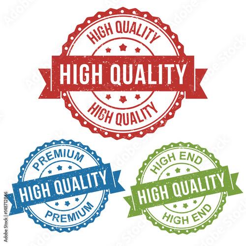 Fotografie, Obraz  high quality premium circle stamp rugged