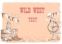Wild West Cowboy Background F...