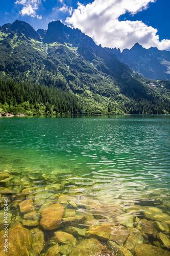 Spoed Fotobehang Bergen Stunning lake in the mountains, Poland, Europe