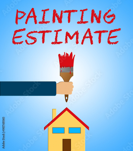 Painting Estimate Meaning Renovation Quote 3d Illustration Canvas Print