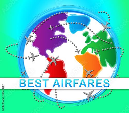 Photo Best Airfares Indicatings Optimum Cost Flights 3d Illustration