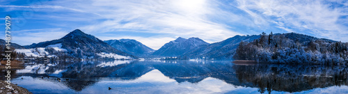 Photo Stands Night blue schliersee lake