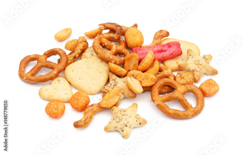 Spoed Fotobehang Voorgerecht Crackers / Biscuits salés pour l'apéritif